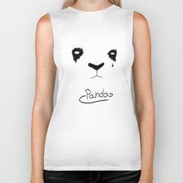 Panda Tear(s) Biker Tank