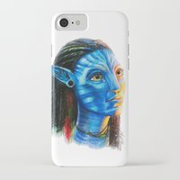 avatar iPhone & iPod Cases featuring Avatar by Aoife Rooney Art