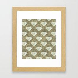 Hearts Motif Pattern Framed Art Print