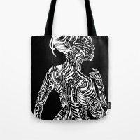 maori Tote Bags featuring Opposite Maori by SarinneG