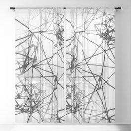 Geometric himmeli ornaments as minimal seamless pattern Sheer Curtain