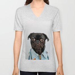 Pug Got Style Unisex V-Neck