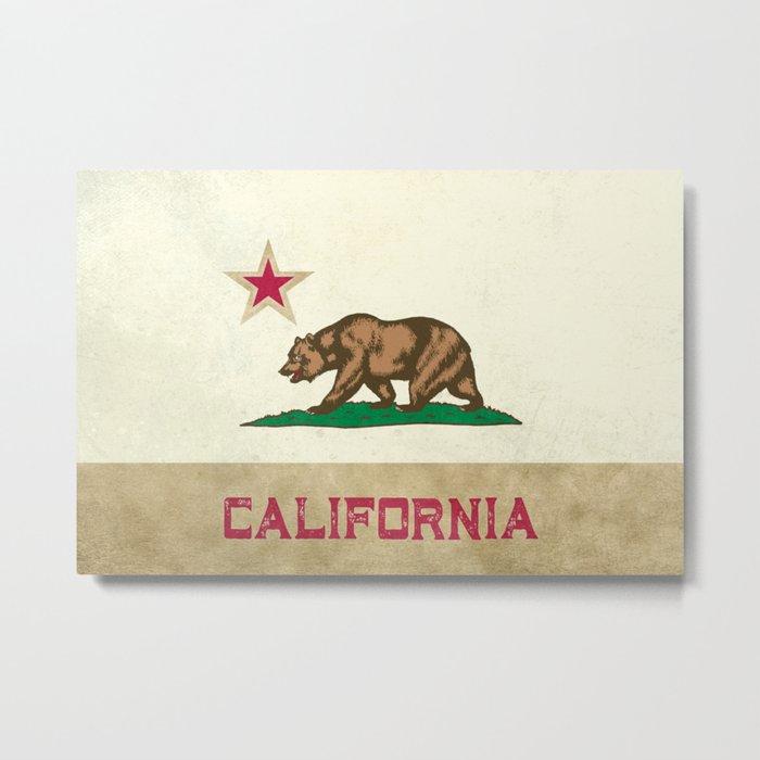 Vintage California Flag Metal Print