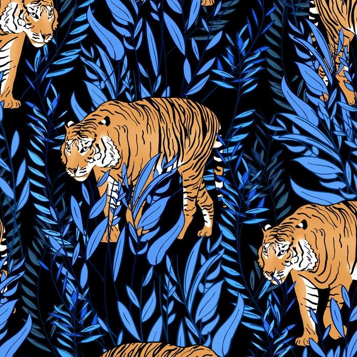 Tiger and leaf pattern Leggings