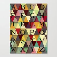 alphabet Canvas Prints featuring alphabet by Lora Si