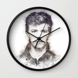 Bowie portrait 01 Wall Clock