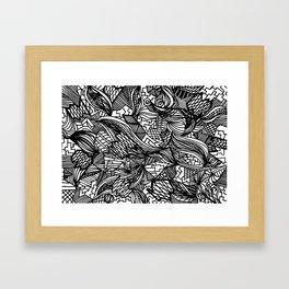 Pattern Crazy Framed Art Print