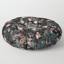 Skull and Floral pattern Floor Pillow