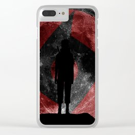 Uchiha Silhouette v2 Clear iPhone Case