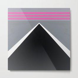 August - mirror pink Metal Print