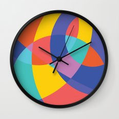 Geometric Beach Ball 1 Wall Clock