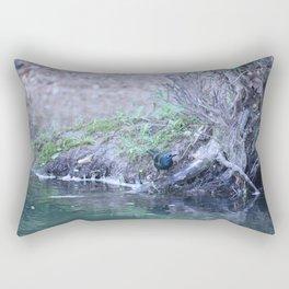 Black Bird At Water's Edge Rectangular Pillow