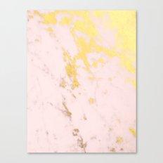 Blush gold marble Canvas Print