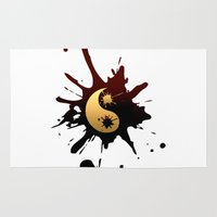 ying yang Area & Throw Rugs featuring Ying-Yang by Jessica Jimerson