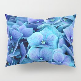 Purple Blue hydrangea Pillow Sham