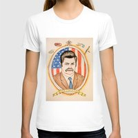 swanson T-shirts featuring Ron Swanson by Ethan Gulley