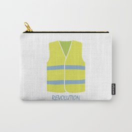Yellow Vest French revolution #society6 #decor #buyart #artprint Carry-All Pouch