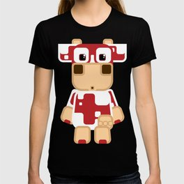 Super cute cartoon cow in red - a moo-st have design for  cow enthusiasts! T-shirt