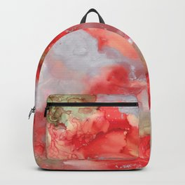 Alcohol Ink 'Big Red' Backpack