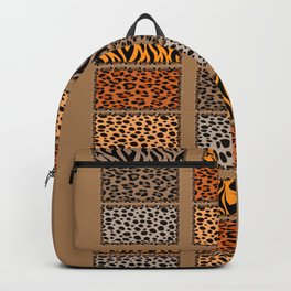 Wild Cats Jungle Print Backpack
