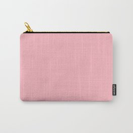 Simply Blush Light Pink Plain  Color Carry-All Pouch