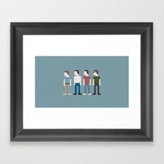 Stand By Me 8-Bit Framed Art Print