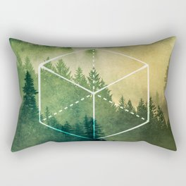 The Elements Geometric Nature Element of Earth Rectangular Pillow