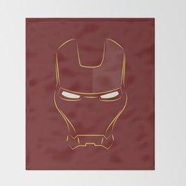 iron man face Throw Blanket