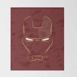 iron man face Throw Blanket
