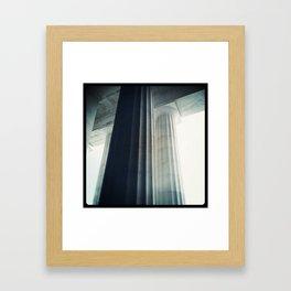 Lincolns Columns Framed Art Print