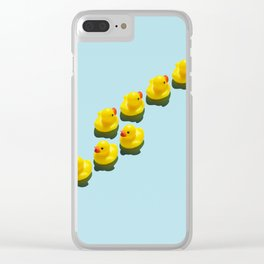 Yellow rubber ducks Clear iPhone Case