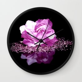 Flower reflexion Wall Clock