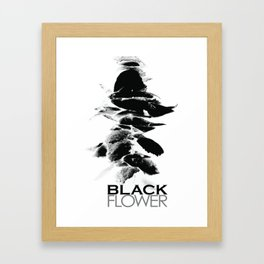 Black Flower Framed Art Print