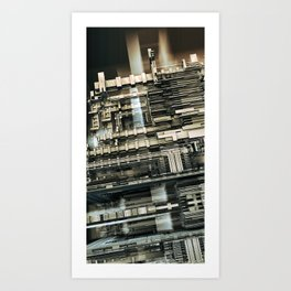 Electro-city Art Print