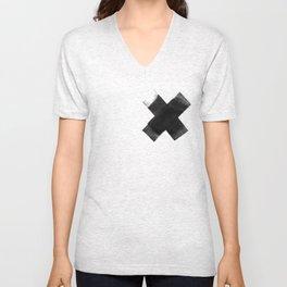 The Black X  Unisex V-Neck