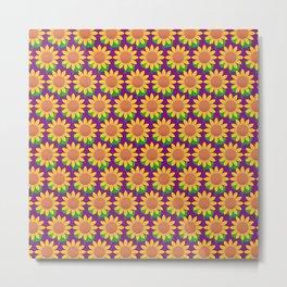 Sunflower Pattern_G Metal Print