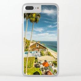 Sunny Summer Day 5533 Laguna Beach Clear iPhone Case