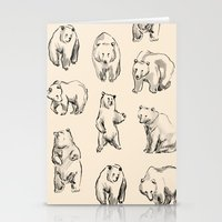 bears Stationery Cards featuring Bears by leah reena goren