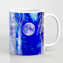 winter moon abstract digital painting Coffee Mug