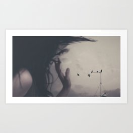 With The Wind by Omerika Art Print