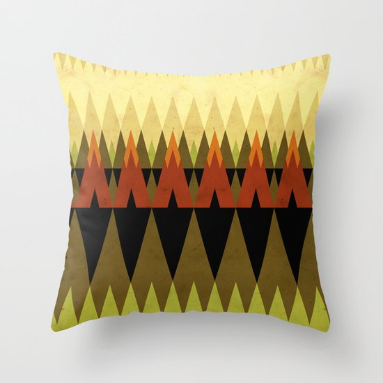 living in the woods Throw Pillow