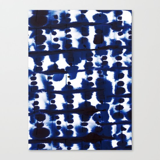 Parallel Indigo Canvas Print