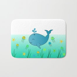 Happy baby whale Bath Mat