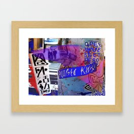Tokyo tags Framed Art Print