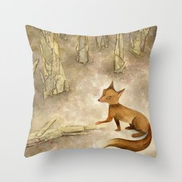 In the silence of the afternoon Throw Pillow
