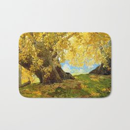 Sycamore in Autumn, Orange County Park Landscape by Edgar Alwin Payne Bath Mat