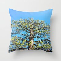 giants Throw Pillows featuring Giants by Nicole Roberts
