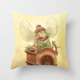 Goblins Drool, Fairies Rule! - Hickory Dock Throw Pillow