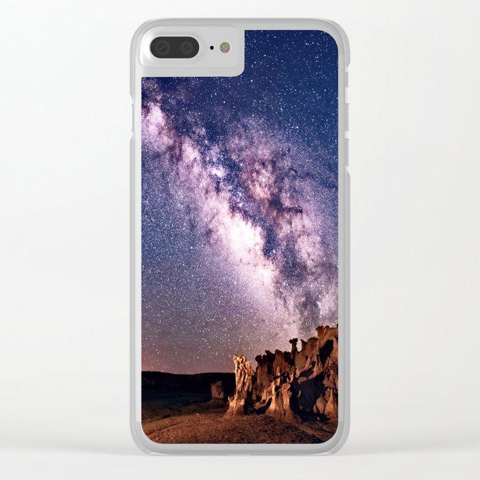 Bisti Badlands Night Sky Clear iPhone Case