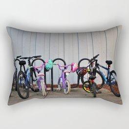 Family Bicycles Rectangular Pillow